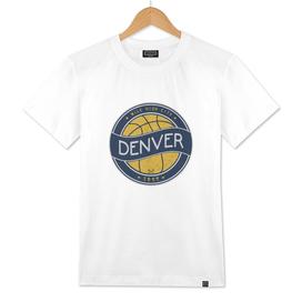 Denver basketball vintage logo navy