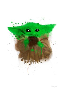 Baby Yoda Watercolor