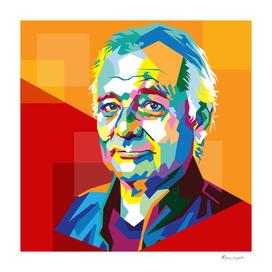 Bill Murray in WPAP Pop Art style