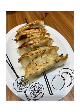 fried dumplings with mushrooms