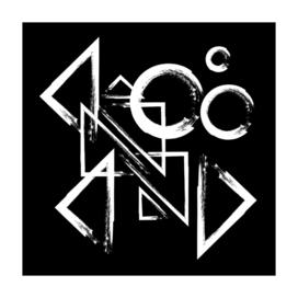 geometry circle triangle - white on black