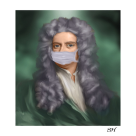 Sir isaac newton with mask