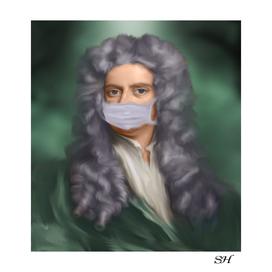 Sir isaac newton with mask