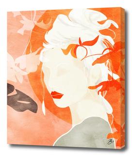woman in orange