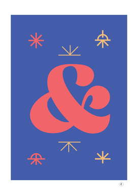 Candy Ampersand - Blue & Red