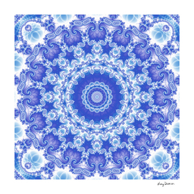 Clarity Mandala in Blue and White