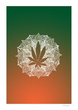 Mandala Circle Cannabis Leaf