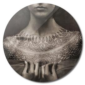 Dark Portrait Tattoo