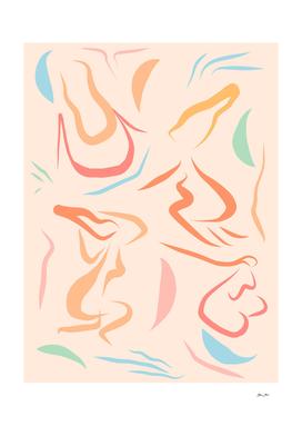 Natural Women line drawing Pattern #Matisse