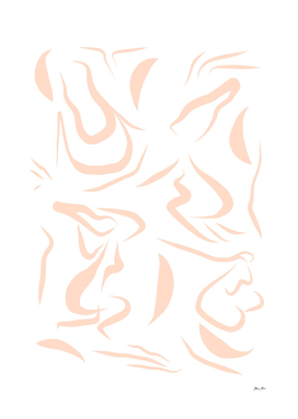 Natural Women line drawing Pattern - Peachy  #Matisse
