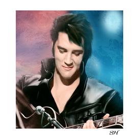 Elvis presley digital painting