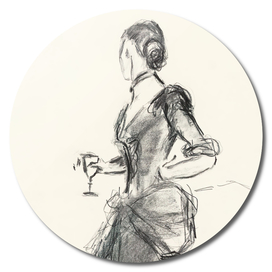 fashion pencil drawing
