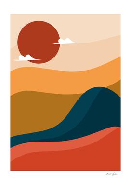 Mountain Colorfull Design Minimal Modern