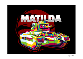 Matilda II Tank Pop Art