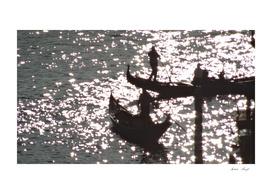 Golden Liquid and Boats