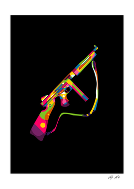 Thompson Submachine Gun Pop Art