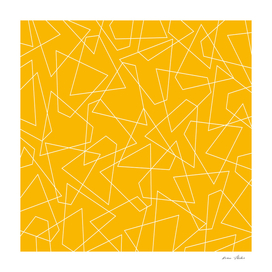 Abstract geometric pattern - orange.