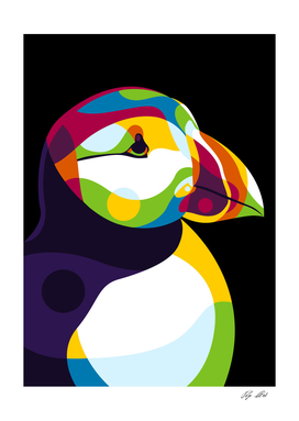 The Colorful Puffin Head