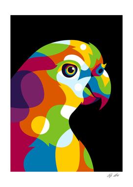 Colorful Parrot Pop Art