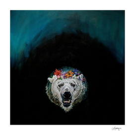 Polar Bear Flower Crown