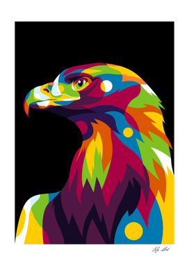 Colorful Falcon Head
