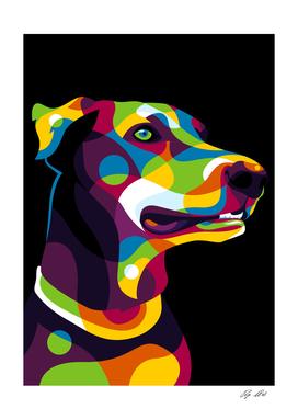 Doberman Dog Pop Art
