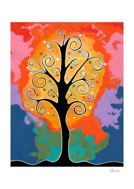 Spiral Whimsical Tree