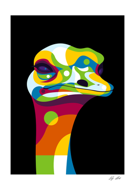 Ostrich Head Pop Art