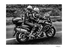 Motorcycle Riders at Highway