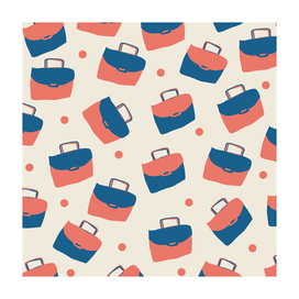 bag (red blue pattern)