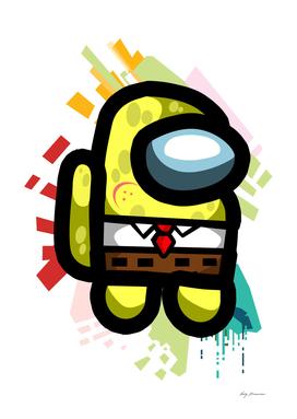 among us spongbob