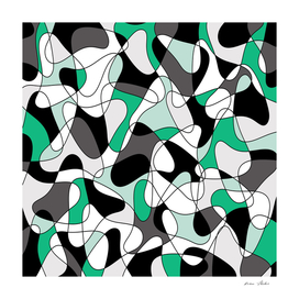 Abstract pattern - green and gray.
