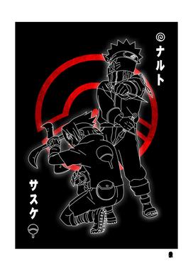 Naruto And  Sasuke Anime