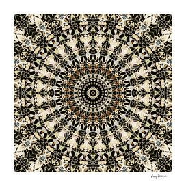 Black and Gold Filigree Mandala