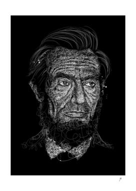 Lincoln Scribble Art