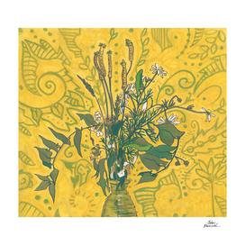 Roadside Wildflowers Bouquet, Golden Yellow