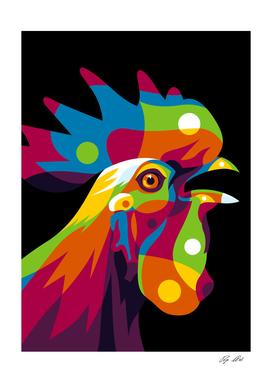 Rooster Inside Pop Art