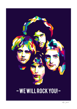 """Queen """"We will Rock you"""" Pop Art Illustrations"""
