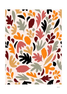 Fall in Love - Leafy Pattern 1