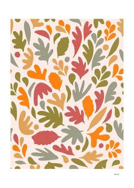 Fall in Love - Leafy Pattern 2