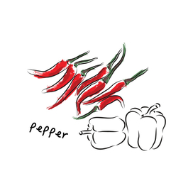 set of peppers