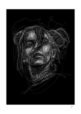 Billie scribbles