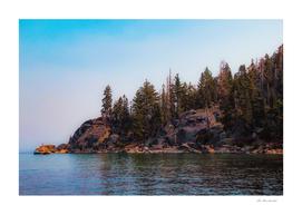 beautiful scenic at Emerald bay Lake Tahoe California USA