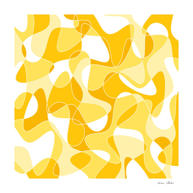 Abstract pattern - orange and white.