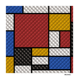 Mondrian in a Studded Leather Style