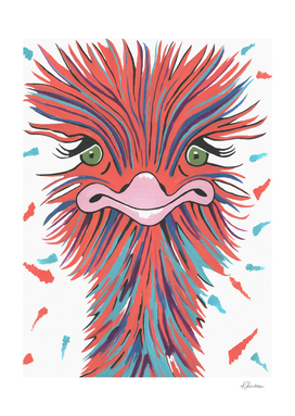 Whimsical Ostrich