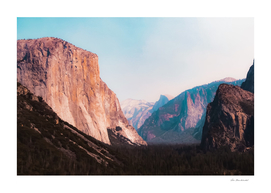mountains scenic at Yosemite national park California USA