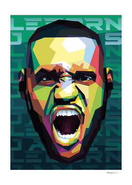 Basketball Player in Pop Art Style