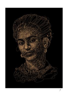 frida kahlo scribbles