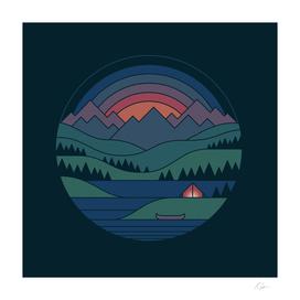 The Lake At Twilight